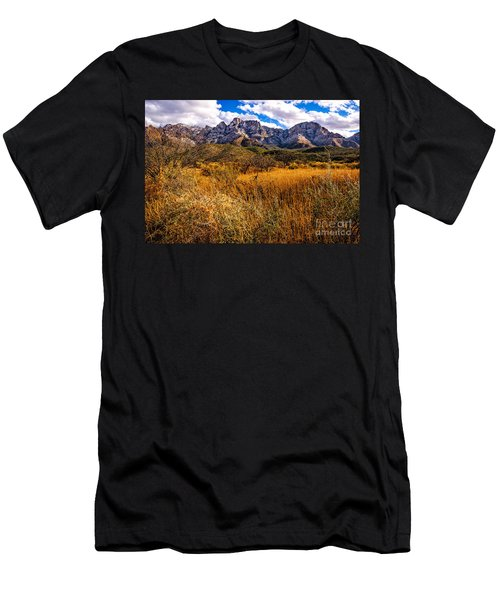 Men's T-Shirt (Slim Fit) featuring the photograph Here To There by Mark Myhaver