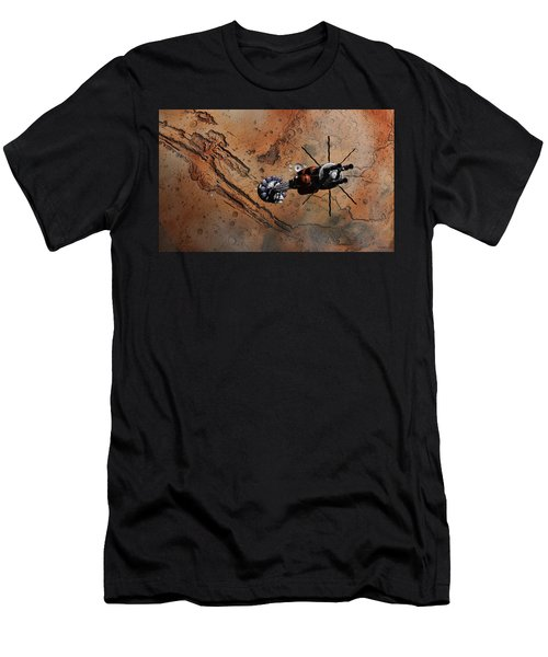 Hermes1 With The Mars Lander Ares1 In Sight Men's T-Shirt (Athletic Fit)