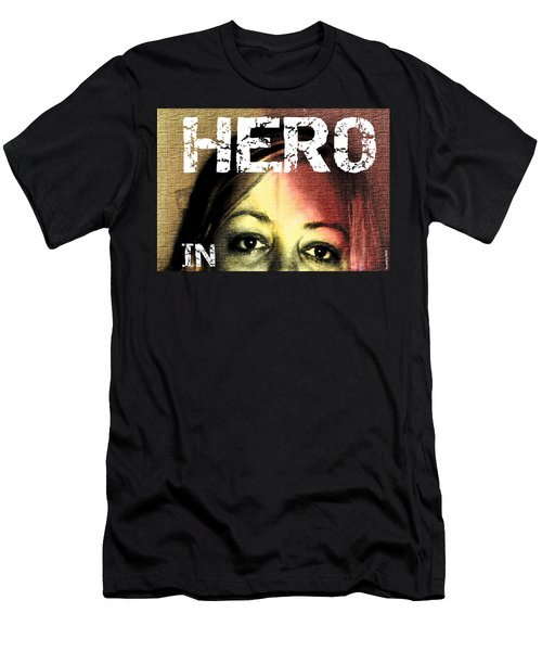 Men's T-Shirt (Slim Fit) featuring the photograph Hero In Part Two by Sir Josef - Social Critic - ART
