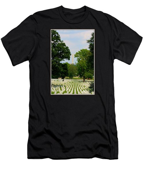 Heroes And A Monument Men's T-Shirt (Slim Fit) by Patti Whitten