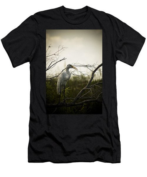 Heron At Dusk Men's T-Shirt (Athletic Fit)