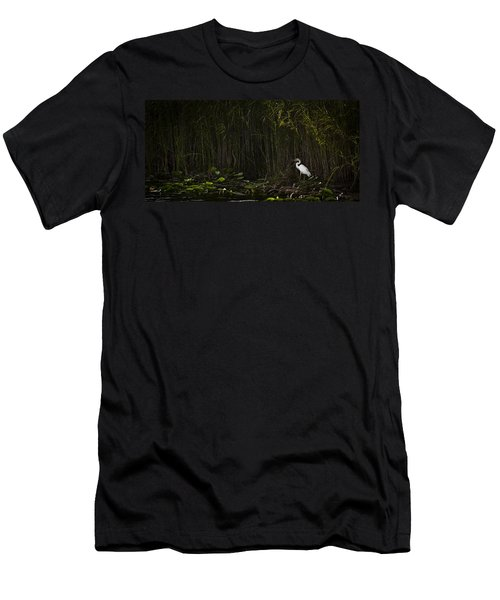 Heron In Grass Men's T-Shirt (Athletic Fit)