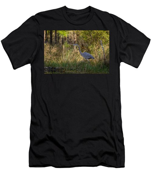 Heron On The Hunt Men's T-Shirt (Athletic Fit)
