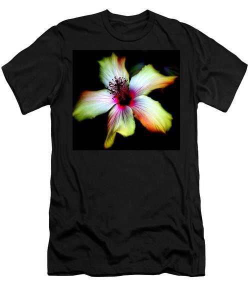 Men's T-Shirt (Slim Fit) featuring the photograph Hibiscus by Jodie Marie Anne Richardson Traugott          aka jm-ART