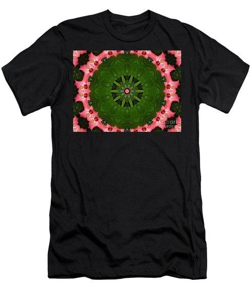 Hibiscus Reflection Design Men's T-Shirt (Slim Fit) by Oksana Semenchenko