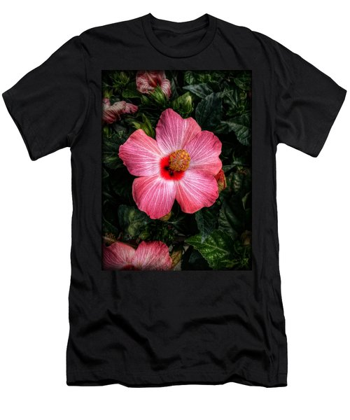 Hibiscus Sunset Men's T-Shirt (Athletic Fit)