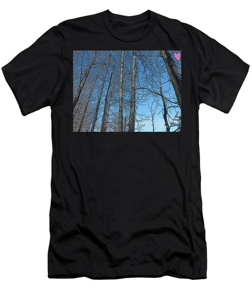 Hickory Trees In Winter Men's T-Shirt (Athletic Fit)