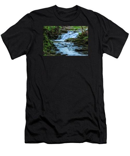 Hidden Falls Men's T-Shirt (Slim Fit) by Julie Andel
