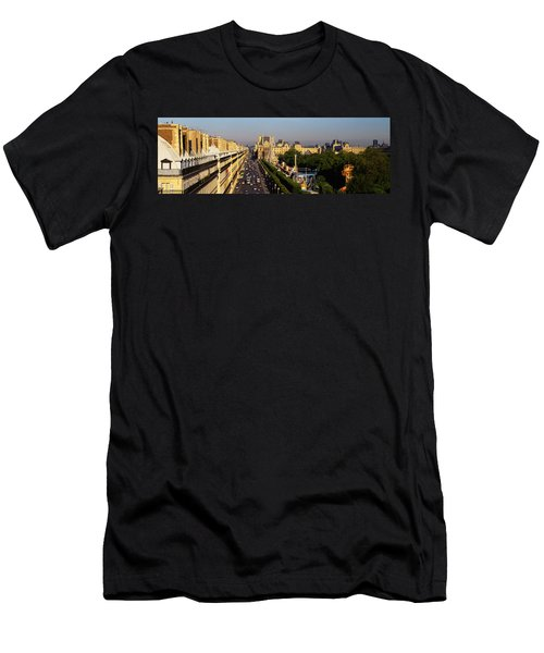 High Angle View Of Vehicles Men's T-Shirt (Athletic Fit)