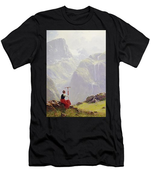 High In The Mountains Men's T-Shirt (Athletic Fit)