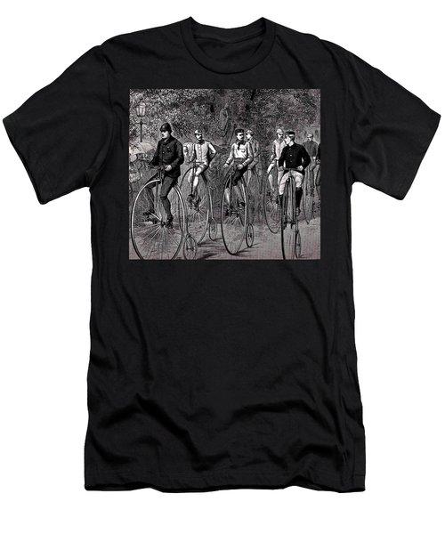 High Wheeled Victorian Bicyclers Men's T-Shirt (Slim Fit) by Peter Gumaer Ogden
