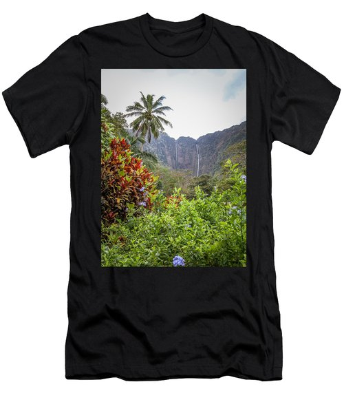 Hiilawe And Hakalaoa Falls Men's T-Shirt (Athletic Fit)