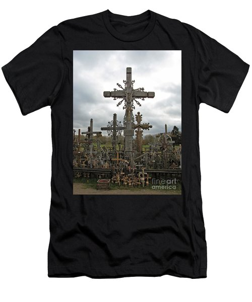 Hill Of Crosses 06. Lithuania.  Men's T-Shirt (Athletic Fit)