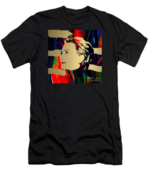 Hillary Clinton Gold Series Men's T-Shirt (Slim Fit) by Marvin Blaine