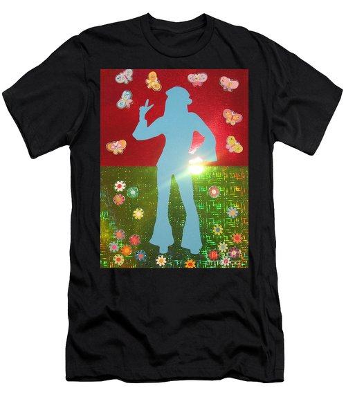 Hippie Girl Men's T-Shirt (Athletic Fit)