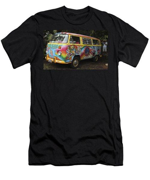 Vintage 1960's Vw Hippie Bus Men's T-Shirt (Slim Fit) by Venetia Featherstone-Witty