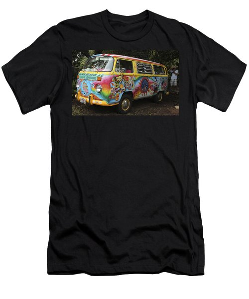 Vintage 1960's Vw Hippie Bus Men's T-Shirt (Athletic Fit)
