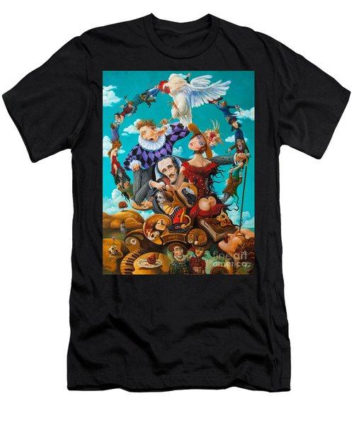 His Majesty Edgar Allan Poe Men's T-Shirt (Athletic Fit)
