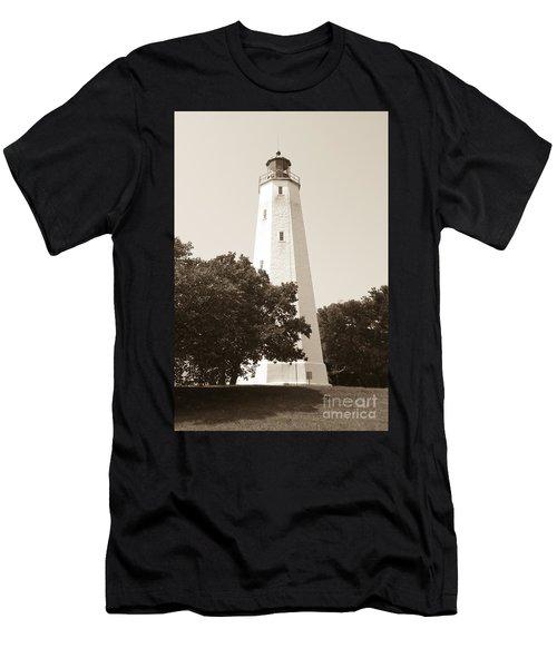 Historic Sandy Hook Lighthouse Men's T-Shirt (Athletic Fit)