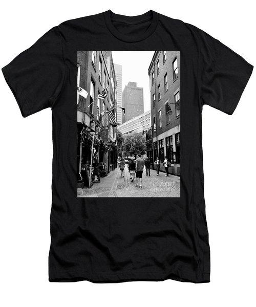 Historic Union Street Boston Ma Men's T-Shirt (Athletic Fit)