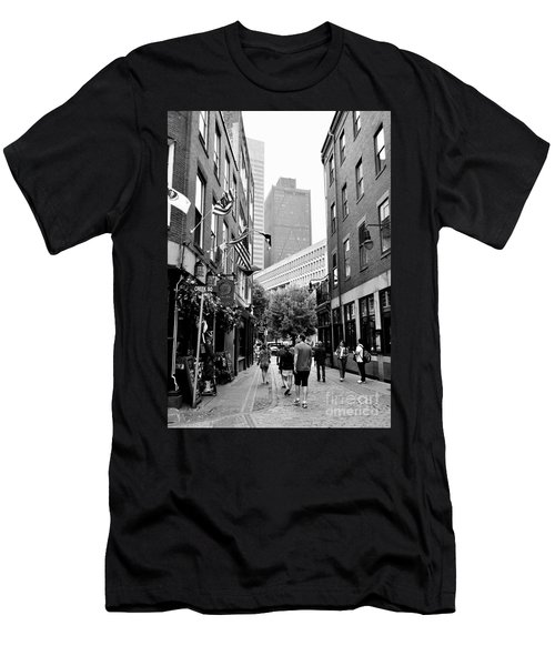 Historic Union Street Boston Ma Men's T-Shirt (Athletic Fit)