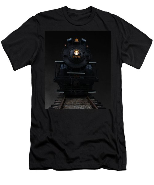 Men's T-Shirt (Slim Fit) featuring the photograph Historical 765 Steam Engine by Rowana Ray