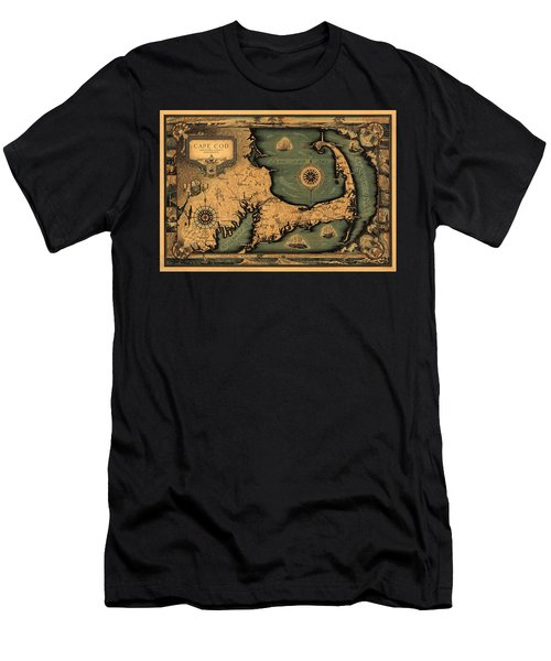 Historical Map Of Cape Cod Men's T-Shirt (Athletic Fit)
