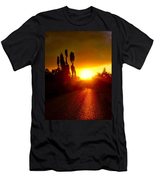 Men's T-Shirt (Slim Fit) featuring the photograph Hit The Road Jack by Zafer Gurel