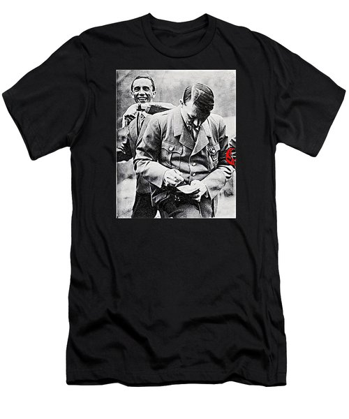 Hitler And Goebbels  As The German Chancellor Signs An Autograph  Men's T-Shirt (Athletic Fit)