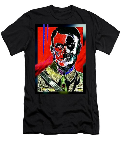 Hitler  - The  Face  Of  Evil Men's T-Shirt (Slim Fit) by Hartmut Jager