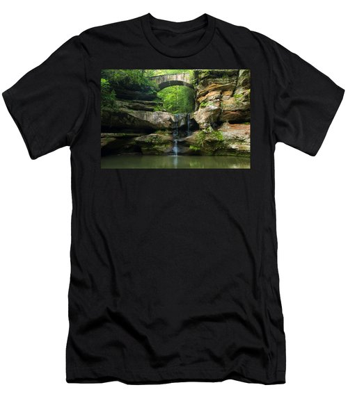 Hocking Hills Waterfall 1 Men's T-Shirt (Athletic Fit)