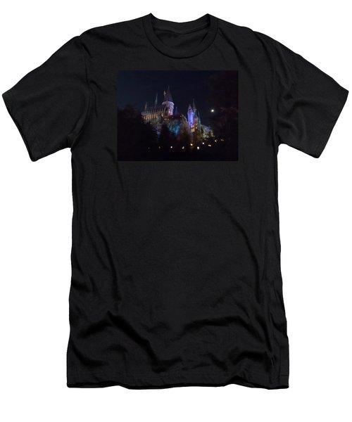 Hogwarts Castle In Lights Men's T-Shirt (Slim Fit) by Kathy Long