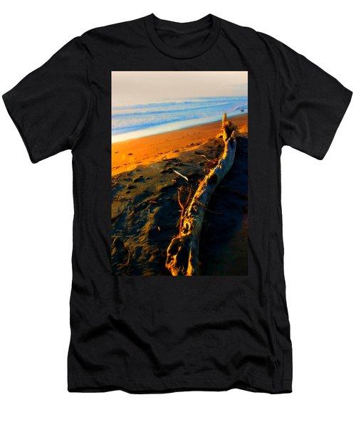 Men's T-Shirt (Slim Fit) featuring the photograph Hokitika Beach New Zealand by Amanda Stadther