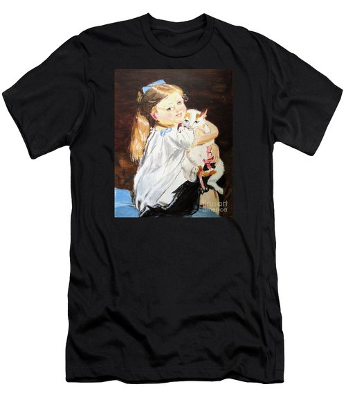Men's T-Shirt (Slim Fit) featuring the painting Holding On by Judy Kay