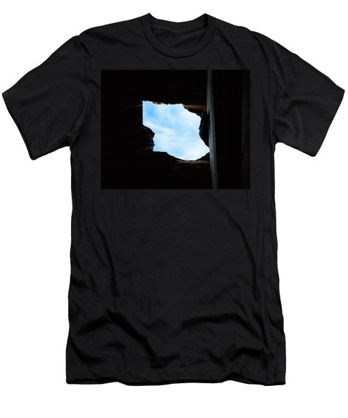 Men's T-Shirt (Slim Fit) featuring the photograph Hole In The Roof  by Gary Heller