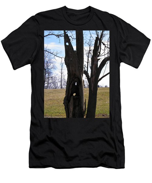 Men's T-Shirt (Slim Fit) featuring the photograph Holey Tree Trunk by Nick Kirby