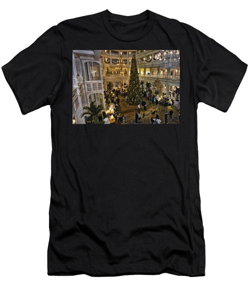 Holiday Time Panorama Walt Disney World Men's T-Shirt (Athletic Fit)
