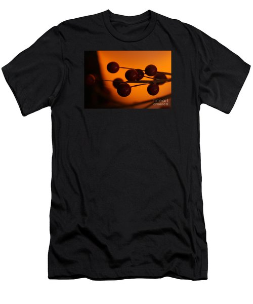 Men's T-Shirt (Slim Fit) featuring the photograph Holiday Warmth 1 by Linda Shafer