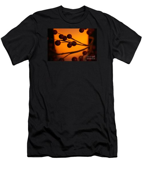 Men's T-Shirt (Slim Fit) featuring the photograph Holiday Warmth 2 by Linda Shafer