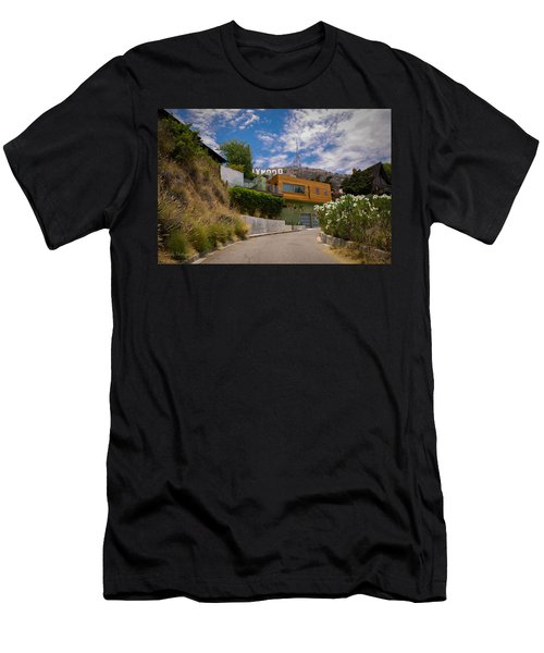 Hollywood  Men's T-Shirt (Slim Fit) by Gandz Photography