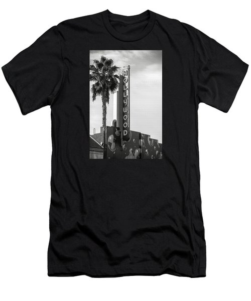 Hollywood Landmarks - Hollywood Theater Men's T-Shirt (Slim Fit) by Art Block Collections