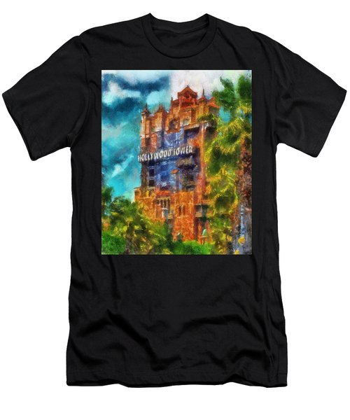 Hollywood Tower Hotel Wdw Photo Art 03 Men's T-Shirt (Athletic Fit)