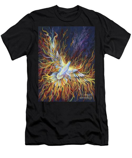 Men's T-Shirt (Athletic Fit) featuring the painting Holy Fire by Nancy Cupp