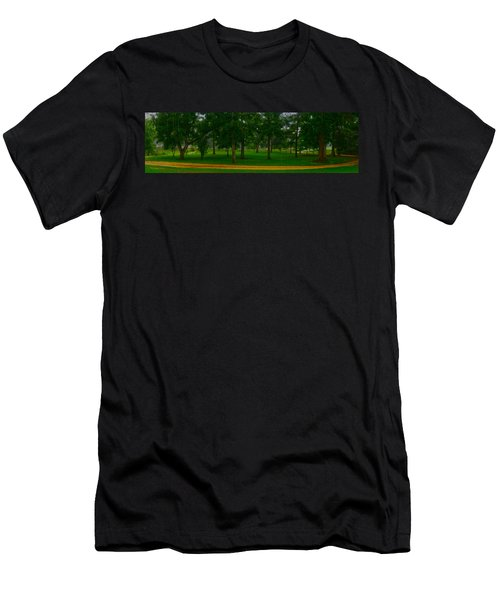 Men's T-Shirt (Slim Fit) featuring the photograph Home Circle II by Lanita Williams