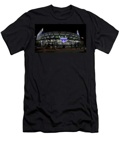 Men's T-Shirt (Slim Fit) featuring the photograph Home Of The Cleveland Indians by Terri Harper
