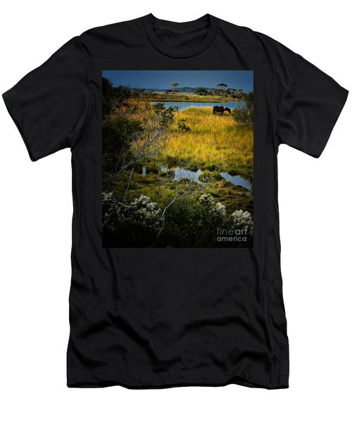 Home On The Range Men's T-Shirt (Slim Fit) by Robert McCubbin