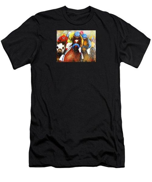 Home Stretch Men's T-Shirt (Slim Fit) by Loretta Luglio