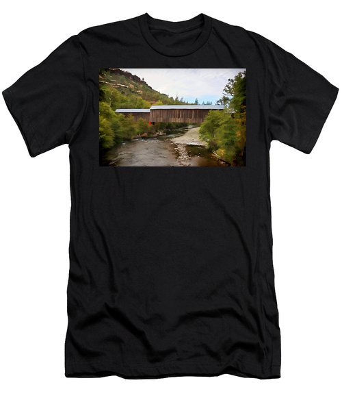 Honey Run Covered Bridge Men's T-Shirt (Athletic Fit)