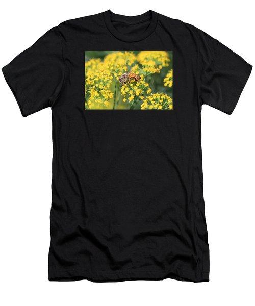 Honeybee On Dill Men's T-Shirt (Athletic Fit)