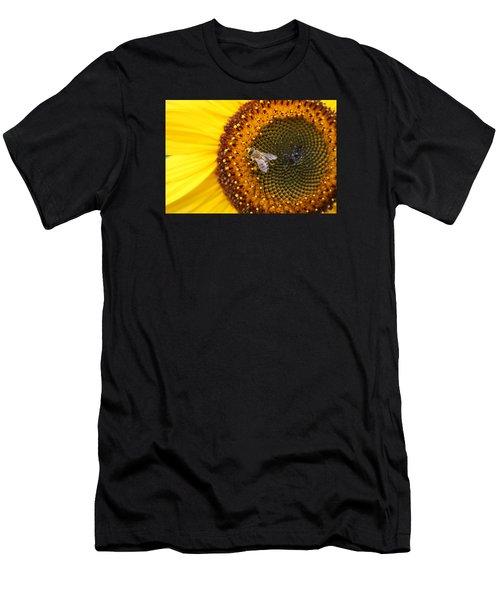 Honeybee On Sunflower Men's T-Shirt (Athletic Fit)